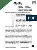 Solicito Reprogramacion de Audiencia EXTRAJUDICIAL - JUANCARLOS