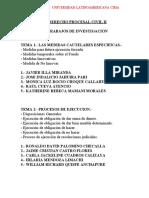 TRABAJOS DE INVESTIGACION. DERECHO PROCESAL CIVIL II.CIMA.