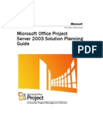 Project Server 2003 Solution Planning Guide