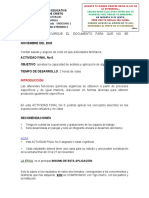 No 6 11-1 ACTIVIDAD DIAGNÓSTICA FINAL No 6 2020
