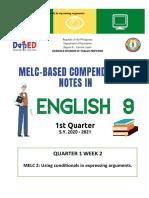 English 9 Week 2