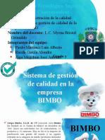 Análisis del sistema de calidad. BIMBO_