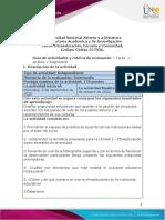 Guía de actividades y rúbrica de evaluación - Unidad 1 - Ciclo de tarea 1 - Análisis y diagnóstico