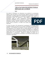 JUNTAS DE DILATACION EN ESTRUCTURAS  METALICAS Y OTROS