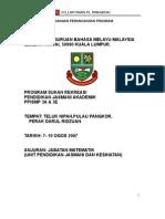 Laporan Pendidikan Luar (PJ) di Pangkor