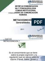 Metacognicion generalidades