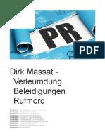 Dirk Massat - Verleumdung Beleidigungen Rufmord