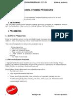 Personal Hygiene Procedure.doc
