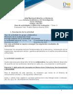 Guia de actividades y Rúbrica de evaluación POA