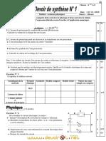 Devoir Corrigé de Synthèse N°1 - Physique-Chimie - 1ère AS  (2010-2011) Mr Akermi Abdelkader - Copie.pdf