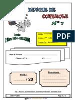 Devoir de Contrôle N°1 - Technologie - Poste automatique de sciage  - 1ère AS (2018-2019) Mr Raouafi Abdallah