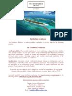 Job Advert - 22 Nov 20 - Job Maldives