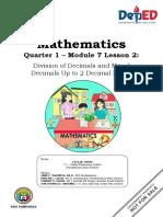 Math_Gr6_Q1_Module 07-L2_Division-of-Decimals-and-Mixed-Decimals-Up-to-2-Decimal-Places