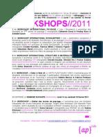 WORKSHOPS+2011-affiche