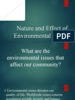 Nature and Effect of Environmental Issues