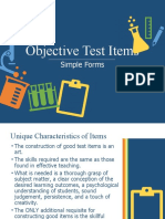 Assessment- Objective Test Items.pptx