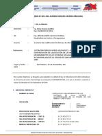 Informe Tecnico N°005 del Espe. Costos y Presupuestos - Justifiacación de atrazo Octubre 2020