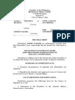 Pre Trial Brief - Blanco v. Waller