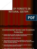 ROLE OF FORESTS IN NATURAL SISTEM