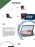 Microsoft Surface Versões