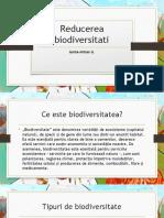 Reducerea biodiversitati proiect