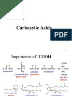 Carboxylic acids (MRH)