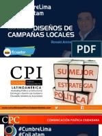 Cumbre Lima - diseños de campañas electorales