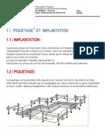 CHAPITRE 01 - Piquetage, Implantation et Terrassement