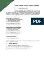 Acta de constitucion e instalacion de Comite de SST