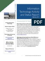 February 2011 IT Status Report