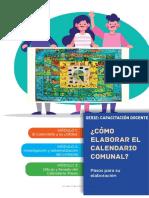 calendario comunal elaboracion