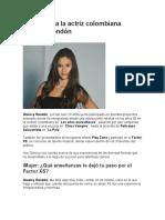 Entrevista a la actriz colombiana Greeicy Rendón
