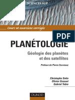 planétologie géologie des planetes et satélites