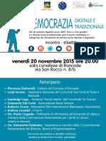 2020 Novembre 20 Democrazia Digitale Roncade