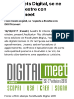 2017 Ottobre Food Meets Digital Mestre