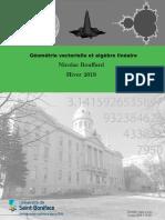 [lecture notes] Nicolas Bouffard - Géométrie vectorielle et algèbre linéaire (2019)