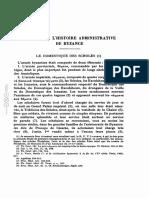 Guilland Etudes sur histoire administrative de Byzance Le Domestique des Scholes