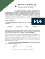 Convocatoria para la Oferta Pública de Bono Amortizable PDVSA 2022