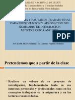 Metodología para realizar Trabajo de Campo y Proyecto final (SIM) (1).ppt