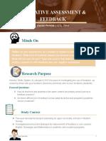 formative assessment - handout