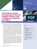 Pactos olíticos post CV19 CEPAL
