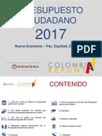 PRESUPUESTO CIUDADANO 2017