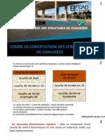 Cours 10.Constitution des structures de chaussées