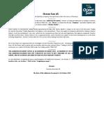 Ocean Sun - Admission Document (Merkur Market)(9502677.1)