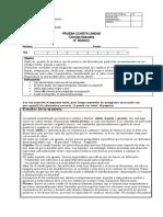 Evaluaciones  6º estado de la materia