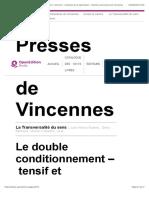 La Transversalité du sens - Le double conditionnement–tensif et rhétorique–des structures élémentaires de la signification - Presses universitaires de Vincennes