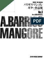 AGUSTÍN BARRIOS - MANGORÉ - Music for guitar Vol º 3