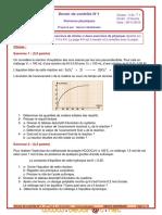 Devoir de Contrôle N°1 - Physique - Bac Technique (2010-2011) Mr Akermi Abdelkader