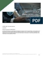 ISO 27001 Lead Implementer FR v.6.0 Day-2