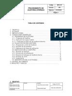 procedimiento de Auditoria interna Distrivet ibague s.a.s